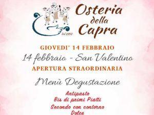 14 febbraio San Valentino apertura…