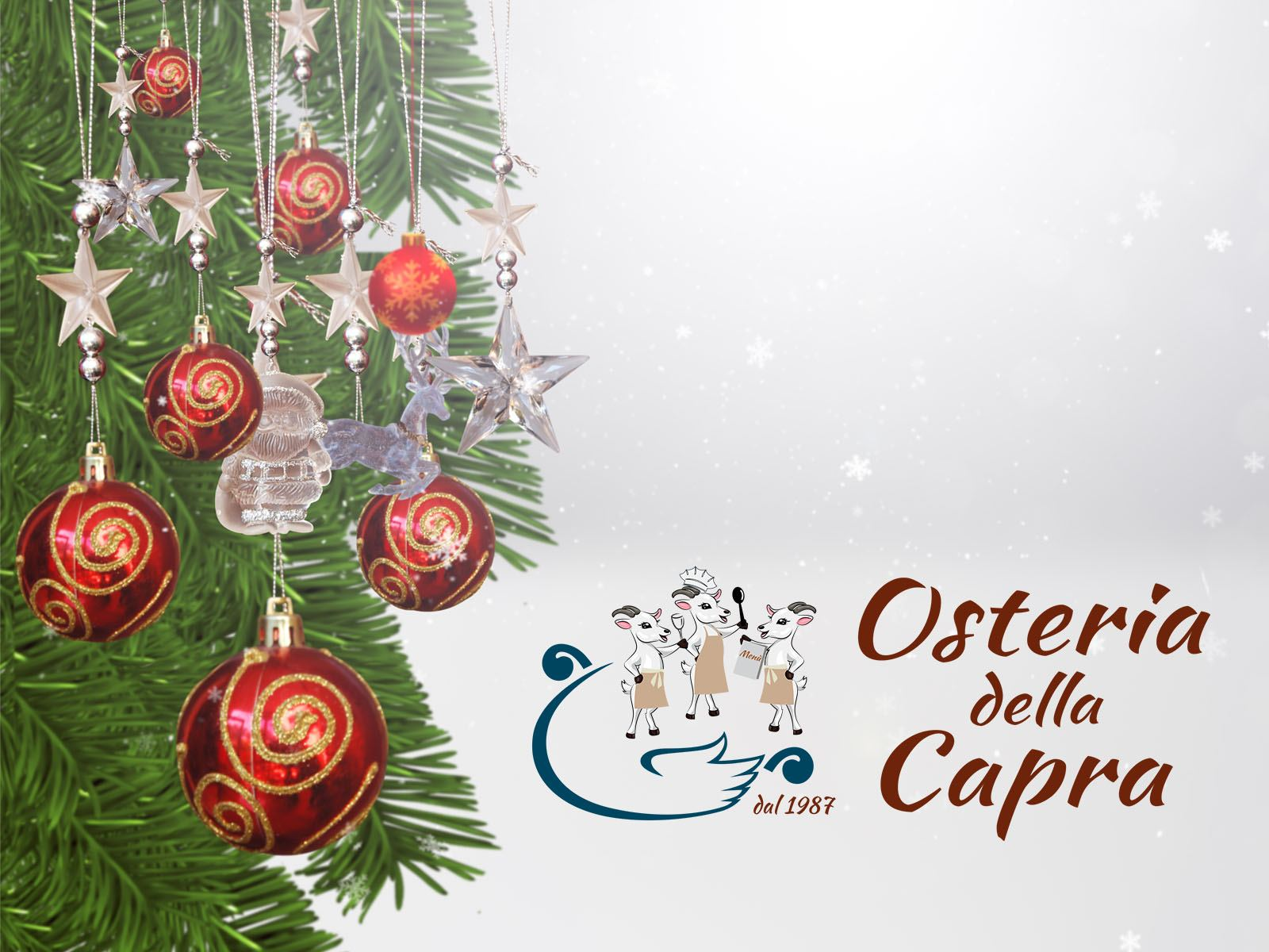 Buon Natale! Osteria Della Capra